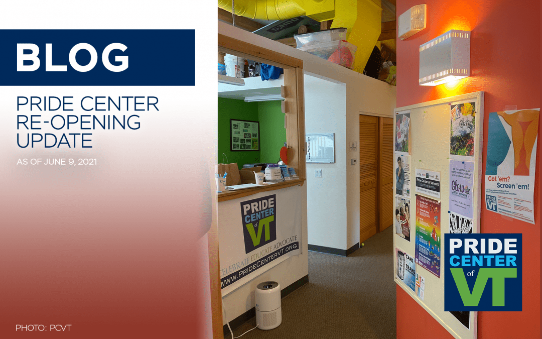 Re-opening Update! Center use appointments , in-person events, and more.