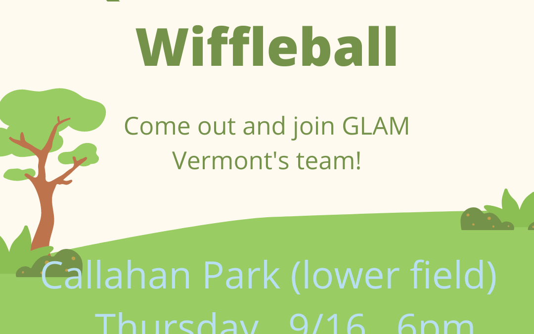 Queer & Trans Wiffleball with GLAM Vermont